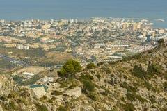 Flyg- sikt av Marbella, Andalusia region, Spanien Arkivfoto
