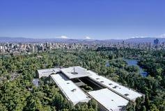Flyg- sikt av Mexico - stad royaltyfria bilder