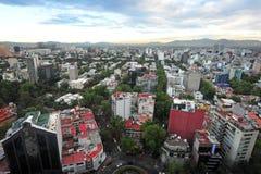 Flyg- sikt av Mexico - stad - Mexico Fotografering för Bildbyråer