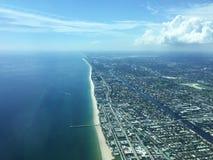 Flyg- sikt av Miami Hollywood, Florida, USA fotografering för bildbyråer