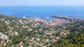Flyg- sikt av Monaco stock video