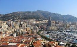 Flyg- sikt av Monaco Arkivbild