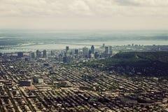 Flyg- sikt av Montreal Royaltyfri Bild