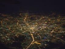 Flyg- sikt av Moskvastaden arkivfoto