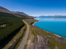 Flyg- sikt av Mt-kocken Landscape, Nya Zeeland Arkivbilder
