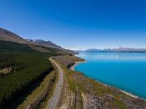 Flyg- sikt av Mt-kocken Landscape, Nya Zeeland Fotografering för Bildbyråer