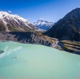 Flyg- sikt av Mt-kocken Landscape, Nya Zeeland Royaltyfri Fotografi