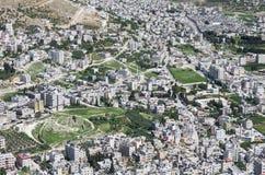 Flyg- sikt av Nablus Arkivbild