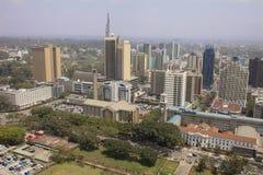 Flyg- sikt av Nairobi Arkivfoto