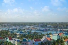 Flyg- sikt av Nassau Arkivbilder