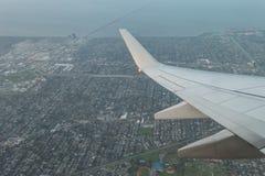 Flyg- sikt av New Orleans cityscapes arkivbild