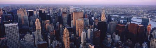 Flyg- sikt av New York City Fotografering för Bildbyråer