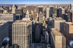 Flyg- sikt av New York City i USA Arkivbilder