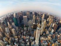 Flyg- sikt av New York City, norr riktning royaltyfria foton