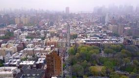 Flyg- sikt av New York, Midtown Manhattan Residental byggnader, gataans-tvärgator från över arkivfilmer