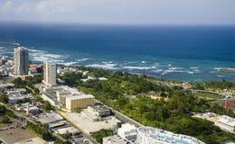 Flyg- sikt av nordliga Puerto Rico Fotografering för Bildbyråer