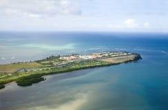 Flyg- sikt av nordostliga Puerto Rico Royaltyfri Bild