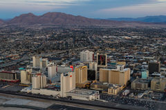 Flyg- sikt av norr Las Vegas Royaltyfri Bild