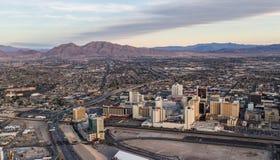 Flyg- sikt av norr Las Vegas Royaltyfri Fotografi