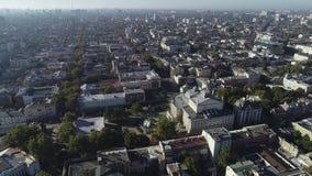 Flyg- sikt av Odessa Downtown den gamla staden video 4K stock video