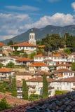 Flyg- sikt av Ohrid Arkivbild