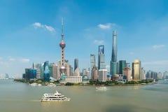 Flyg- sikt av område för shanghai, shanghai lujiazuifinans Royaltyfria Bilder
