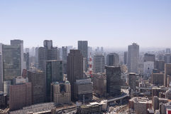 Flyg- sikt av Osaka Japan Arkivfoto