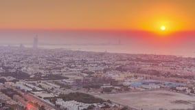 Flyg- sikt av Palm Jumeirah ?timelapse stock video