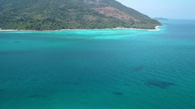 Flyg- sikt av paradiset Ko Lipe, Thailand lager videofilmer