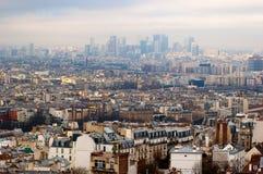 Flyg- sikt av Paris från den Sacre Coeur basilikan Arkivbild