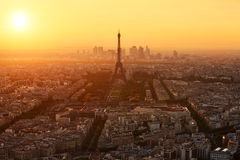 Flyg- sikt av Paris (Frankrike) Fotografering för Bildbyråer