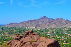 Flyg- sikt av Phoenix, Arizona Royaltyfri Bild