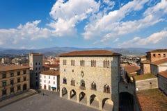 Flyg- sikt av Pistoia Tuscany Italien Royaltyfri Foto