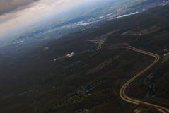 Flyg- sikt av Pittsburgh som är horisontal Royaltyfri Fotografi