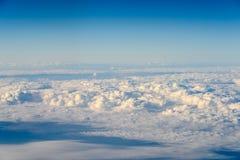 Flyg- sikt av planetjord som sett från 40 000 fot Arkivfoto