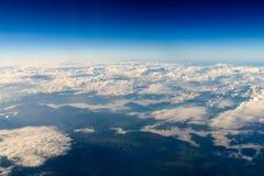Flyg- sikt av planetjord som sett från 40 000 fot Royaltyfri Foto