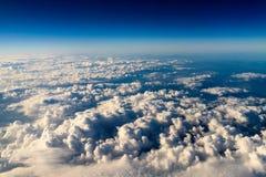 Flyg- sikt av planetjord som sett från 40 000 fot Royaltyfri Bild