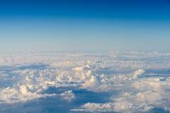 Flyg- sikt av planetjord som sett från 40 000 fot Arkivbilder