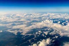 Flyg- sikt av planetjord som sett från 40 000 fot Arkivfoton