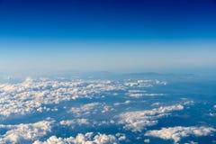 Flyg- sikt av planetjord som sett från 40 000 fot Fotografering för Bildbyråer