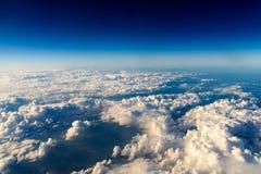 Flyg- sikt av planetjord som sett från 40 000 fot Arkivbild