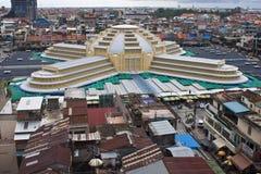 Flyg- sikt av Pnom Penh Arkivfoton