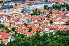 Flyg- sikt av Prague Royaltyfria Bilder