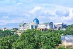 Flyg- sikt av presidentpalatset av Georgia i Tbilisi Arkivfoto