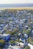 Flyg- sikt av Provincetown, Massachusetts Arkivfoton