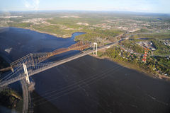 Flyg- sikt av Quebec City område Royaltyfria Foton