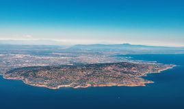 Flyg- sikt av Rancho Palos Verdes, LA Royaltyfri Bild