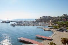 Flyg- sikt av Rapallo i Italien Royaltyfria Bilder