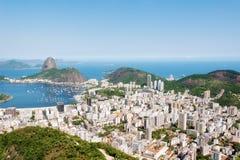 Flyg- sikt av Rio De Janeiro Arkivfoton