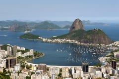 Flyg- sikt av Rio De Janeiro Royaltyfri Foto